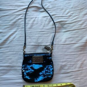 Coach Blue Sequin Crossbody